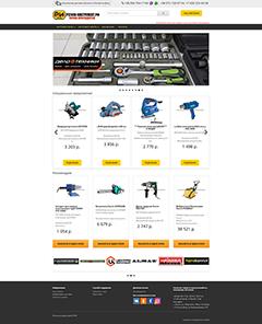 Сайт для интернет магазина инструмента